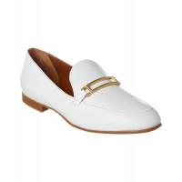 Women Aquatalia Emelia Waterproof Leather Loafer Sexy and elegant White Style # 458881401 BLFWLJM