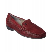 Women Ara Caruso Suede Loafer Sexy and elegant Burgundy Style # 468005001 SIWYEFI