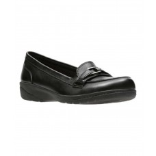 Women Clarks Women's Cheyn Marie Loafer Sexy and elegant Black Full Grain Leather Style # 502028802 XYZIICM