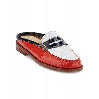 Women G.H. Bass & Co. Womens Classic Weejuns Wynn Mule Loafer Shoe Sexy and elegant Poppy/White Style # 511174604 RXRKPIW