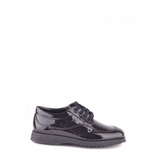 Women Hogan Women's Black Patent Leather Lace-Up Shoes Sexy and elegant Black Style # 448163801 QJMNESF
