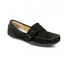 Women Kelsey Dagger Furry Suede Flat Sexy and elegant Black Style # 439059501 UBNXKDS