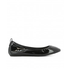 Women Lanvin Women's Black Patent Leather Flats Sexy and elegant Black Style # 448778901 SPNXEGL