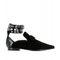 Women Self-Portrait Women's Black Suede Loafers Sexy and elegant Black Style # 453636801 GIXZHBQ