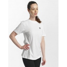 adidas originals Women T-Shirt SC in white ribbed crew neck CE1667 XVEHRCB
