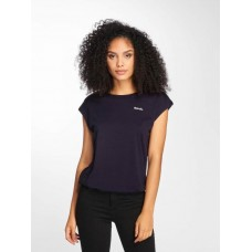 Bench Women T-Shirt Back Detail in blue Crew Neck BLWG003378BL11341 TUJOOQP
