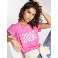 Billabong Women T-Shirt Im A Rebel in pink finely ribbed crew neck L3SS152521 CRQNFNP