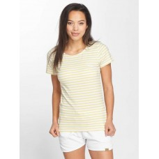 Blend She Women T-Shirt Jemima S in yellow yellow / white 95% cotton 5% spandex Rundhalsschnitt 2020218527002 CQVENMH