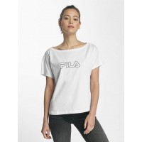 FILA Women T-Shirt Core Line in white farther ribbed round neckline 681893001 KSXNFZV