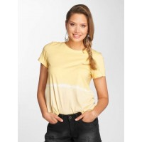 Noisy May Women T-Shirt nmDavida in yellow ribbed crew neck 27002521LC FIPHXUH