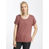 Only Women T-Shirt onlMoster in rose pink 75% Viscose 20% Polyester 5% Elastane further round neckline with fine rib knit collar 15106662WITROS WKXWRUZ