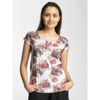 Sublevel Women T-Shirt Roses in grey finely ribbed round neckline with modern lacing D1226Z00318KLGRYM VCISWKS
