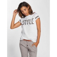 Sublevel Women T-Shirt Style in grey gray mottled 98% cotton 2% viscose finely ribbed crew neck D1272Z01793A23100 ZPAPKMD