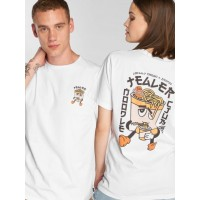 Tealer T-Shirt Noodle Club in white ribbed crew neck TEAPRINOODLECLUBTEE01WHT JKULQID