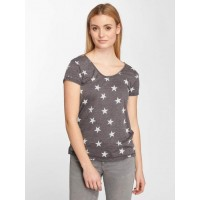 Urban Surface Women T-Shirt Natale in grey finely ribbed crew neck D1574L01165A2ANTGRY FXXMFOW