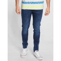 Petrol Industries Men Straight Fit Jeans Narrow Straight Fit in blue concealed zipper in front NOLAN5800 BWMIZNP