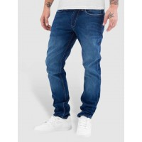 Reell Jeans Men Straight Fit Jeans Nova II in blue five belt loops 1104008010011300 PLVKWQV