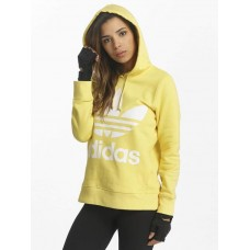 adidas originals Women Hoodie Trefoil in yellow Hood with drawstring for width adjustment CE2413 MDFGFCD