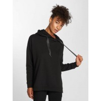 DEF Women Hoodie Leyla in black Black 80% cotton 20% polyester finely ribbed crew neck DFHD065BLK DTWYVEH