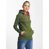 Just Rhyse Women Hoodie Tyoneck in green green / pink 80% cotton 20% polyester Hood with drawstring JLHD201GRN PDPAQFU