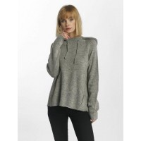 Pieces Women Hoodie pcIris in grey Rib knit cuffs at the sleeve end 17087178LGRYMEL QPPHMPL