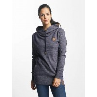 Platinum Anchor Women Hoodie Manuka in blue Crossed hood with thick drawcord 83125802 WFHIBSC