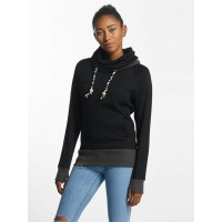 Shisha Women Hoodie Kroon in black Black 70% cotton 30% polyester high collar with drawstring and ribbed edge 7W3977 BFKGYXM