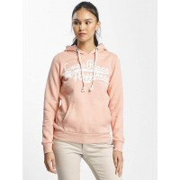 Sublevel Women Hoodie Love Peace Happiness in rose pink 56% polyester 44% cotton Hood with drawcord D1174L02500BBLCOME DMSSUEC