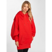 Urban Classics Women Hoodie Long Oversize in red Extra large hood with drawstring TB2233FIRRED ZVTOKZX