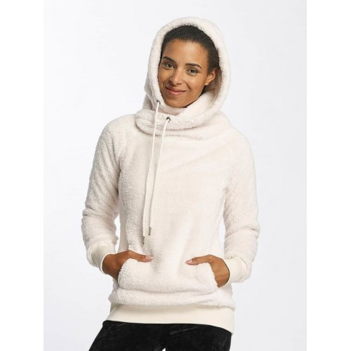 Urban Classics Women Hoodie Long Teddy in beige Crossed hood with drawstring TB1752SAN PMELWYI