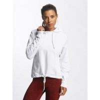 Urban Classics Women Hoodie Oversized Gathering in white Crossed hood with drawstring TB1721WHT QIYWZUX