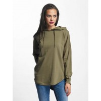Urban Classics Women Hoodie Oversized Terry in khaki Hood with drawstring TB1308ARMGRN KKKGTPG