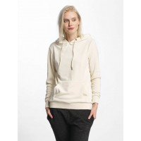 Urban Classics Women Hoodie Velvet in beige large hood with drawcord TB1731SAN QKQAUAT