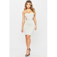 Women Aphrodite Dress Fitted bustier dress featuring front side cut outs. Bustier top HZDETPP