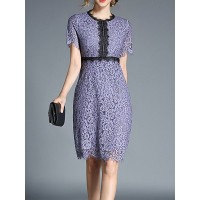 Women Fanny.Wiz Midi Dress Sheath Daily Cutout Floral Dress 1PMI6S3E50 AAWARGH