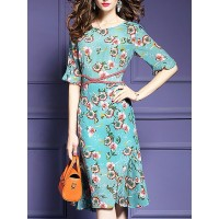Women Fantasyou Multicolor Midi Dress Beach Holiday Floral Dress 1GMI5S5A58 IIMHGJM