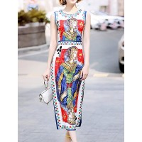 Women Fantasyou Multicolor Midi Dress Sheath Party Casual Beaded Dress 1SMI7424F2 OVCKVWV