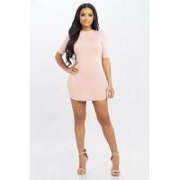 Women Not Tonight Dress Basic bodycon dress featuring a bubble hem. Cowl neck BVWTKMW