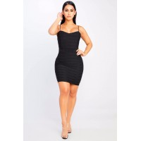 Women Put It All On Me Dress Bodycon dress featuring ribbing details. Scoop neck EGOQGSZ