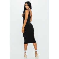 Women Sweet Thang Midi Dress Fitted midi dress with scoop neckline. Fitted TUMECUQ
