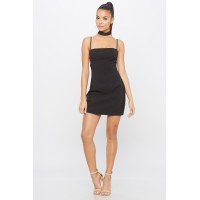 Women Tame Me Mini Dress Fitted mini dress featuring side details and back tie up. Straight neck KLNFKAO