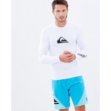Quiksilver Men Mens All Time Long Sleeve UPF 50 Rash Vest An essential item in the closet QU019AA94BYJ TKBKDIM