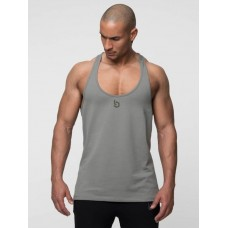 Beyond Limits Men Tank Tops Casual Stringer in khaki khaki 75% cotton 17% polyester 8% spandex BL102110 DDMEFNC
