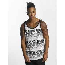 Ecko Unltd. Men Tank Tops TroudÀrgent in grey gray / white 100% cotton all-over logo prints ECKOTT1005GRY JHJZTAJ