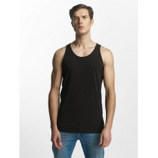 Jack & Jones Jack & Jones Men Tank Tops Basic in black Black 92% cotton 8% spandex ribbed crew neck 12074784BLK NQFJQHA
