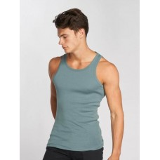 Jack & Jones Jack & Jones Men Tank Tops jcoBooster in blue ribbed crew neck and cuffs 12089379GOBBLU AWDAAJP