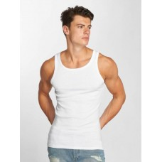 Jack & Jones Jack & Jones Men Tank Tops jcoBooster in white ribbed crew neck and cuffs 12089379WHT FLDXZJO