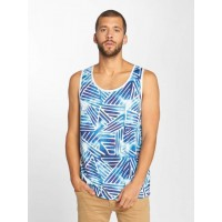Just Rhyse Men Tank Tops Alcata in blue blue / white 100% polyester finely ribbed round neck and armholes JRTT297BLUWHT APNAHCU