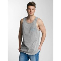 Volcom Men Tank Tops Sarcrasstic in grey Logo print on front and back A4521701HGRY UXALKUL