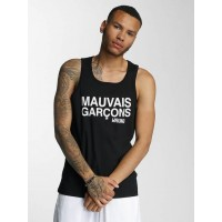 Wrung Division Men Tank Tops Mauvais in black Round neck cutout WG17S1TA6BLK TDETQOL